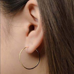 Golden Oversized Hoop Earrings - Medium